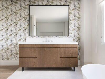 mueble baño roble